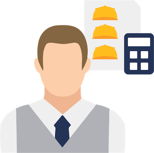 Managing labor costs icon