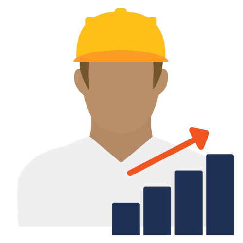 improve worker productivity icon