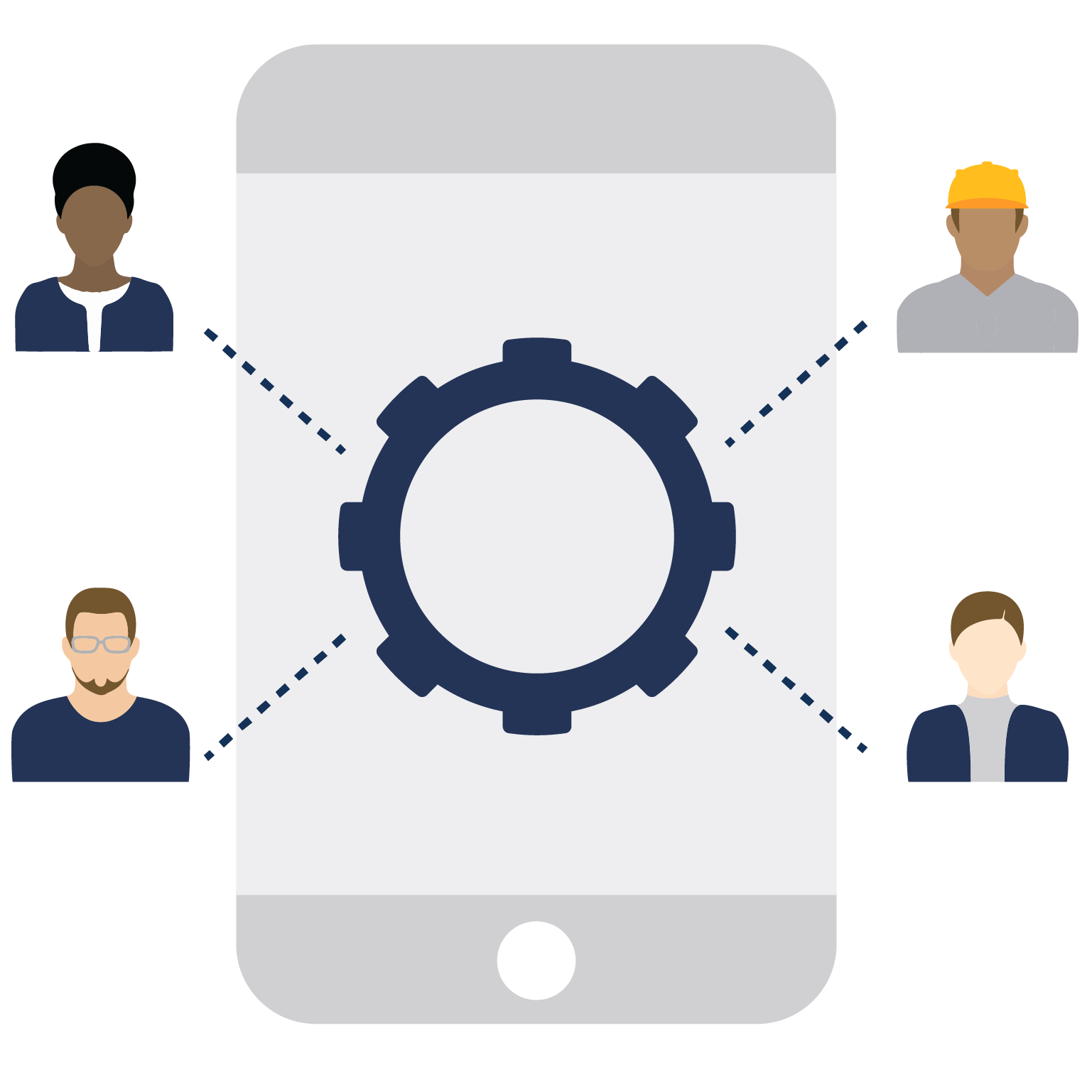 mobile workforce operations icon